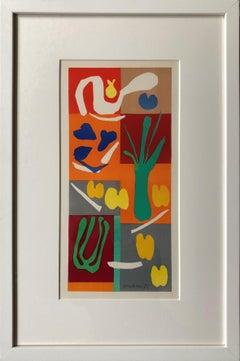 Vegetaux, Henri Matisse, Verve, Mourlot Freres, cut-out, collage, Fauvism,