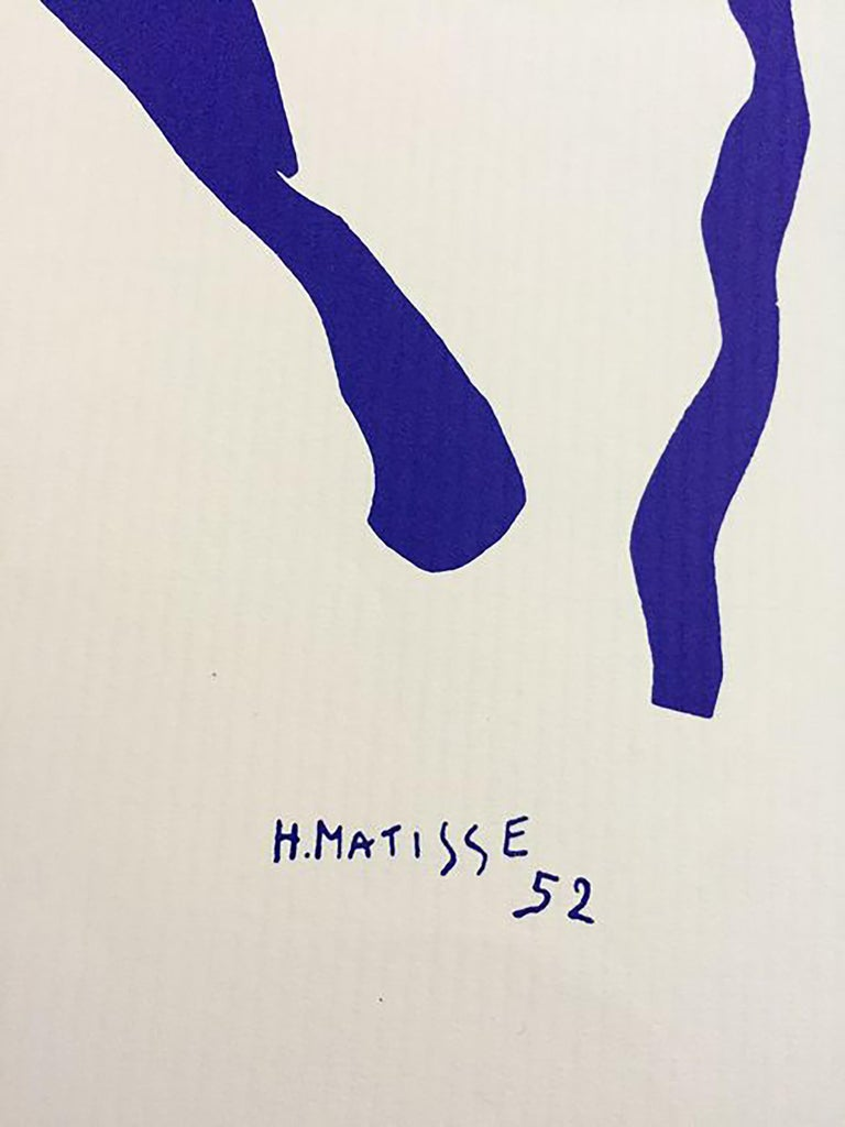 Henri Matisse - Ragazza che salta la corda, 1952. Beautiful limited edition lithograph (200 ex.) from 1979 by Studio d'Arte Perna, Milan. Signed and dated on the stone bottom right and hand-numbered bottom left (XXXIV/CC). Along with the