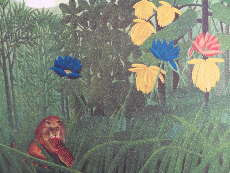 The Repast of the Lion - Lithograph - 300ex - Post-Impressionist Print by (after) Henri Rousseau