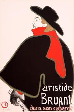 Aristide Bruant, dans son cabaret by Henri de Toulouse-Lautrec - vintage poster
