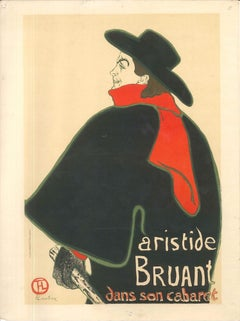 Aristide Bruant dans son Cabaret - Original Litho After H. de Toulouse-Lautrec
