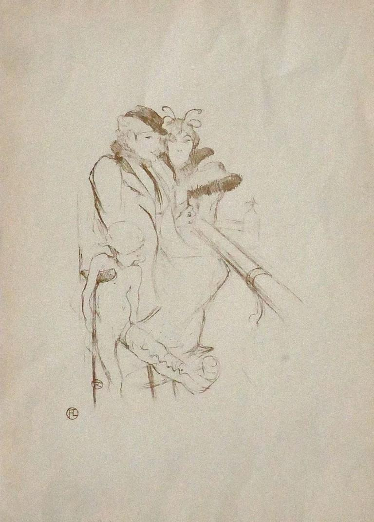 (After) Henri Toulouse Lautrec Figurative Print - Eros Vanné (Eros in a Bad Shape) - Vintage Offset Print - 1970