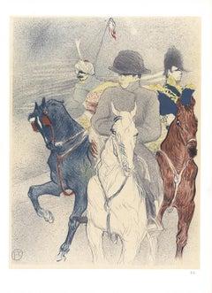 """Henri de Toulouse-Lautrec-Napoleon-14.5"""" x 10.5""""-Lithograph-1966-Art Nouveau"""