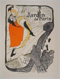 Jane Avril (Jardin de Paris) - Lithograph (Les Maîtres de l'Affiche), 1897