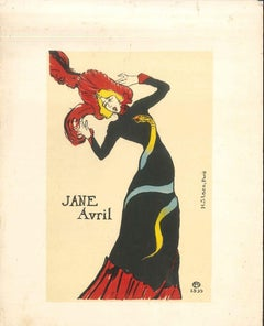 Jane Avril - Original Litho After H. de Toulouse-Lautrec