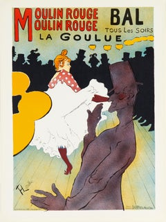 Moulin Rouge, La Goulue by Henri de Toulouse-Lautrec (after) lithographic poster