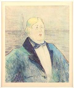 Oscar Wilde - Original Lithograph After H. de Toulouse-Lautrec -1927