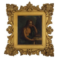 After Il Guercino, The Penitent Mary Magdalene, Frame by Gabranati, 18th Century