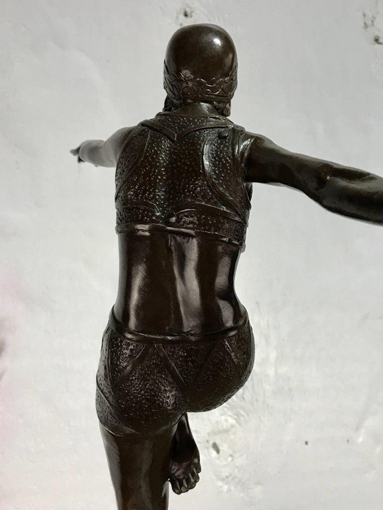 After J Phillips Art Deco Bronze Flapper Sculpture At 1stdibs