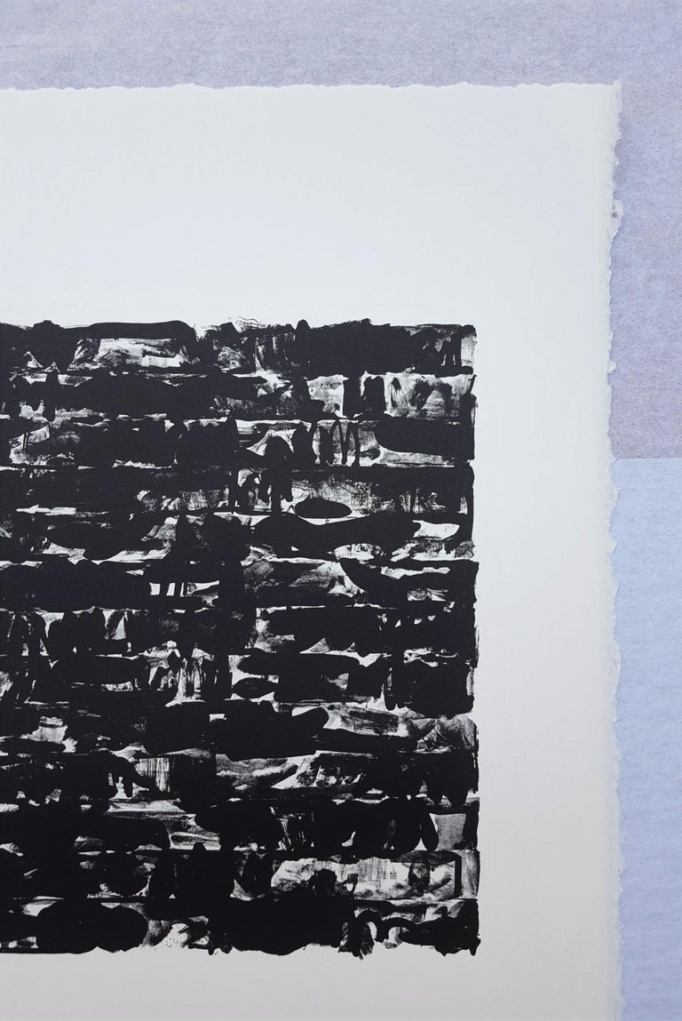 A vintage offset-lithograph (facsimile) on white Arches wove paper after American artist Jasper Johns (1930-) titled
