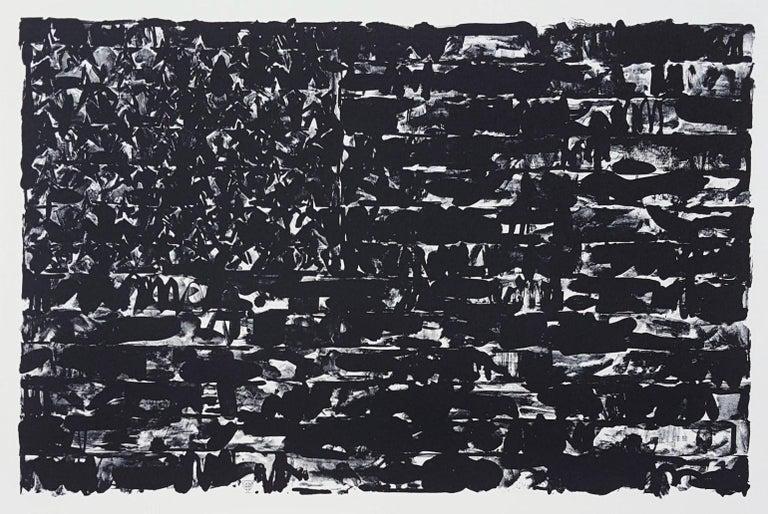 (After) Jasper Johns Abstract Print - Flag I