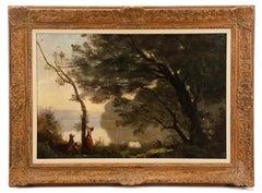"""19th C. Entitled """"Souvenir de Mortefontaine"""", after Jean-Baptiste Camille Corot"""