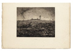 Novembre  - Original Etching by Marcel Roux After J.F. Millet -Late 19th Century