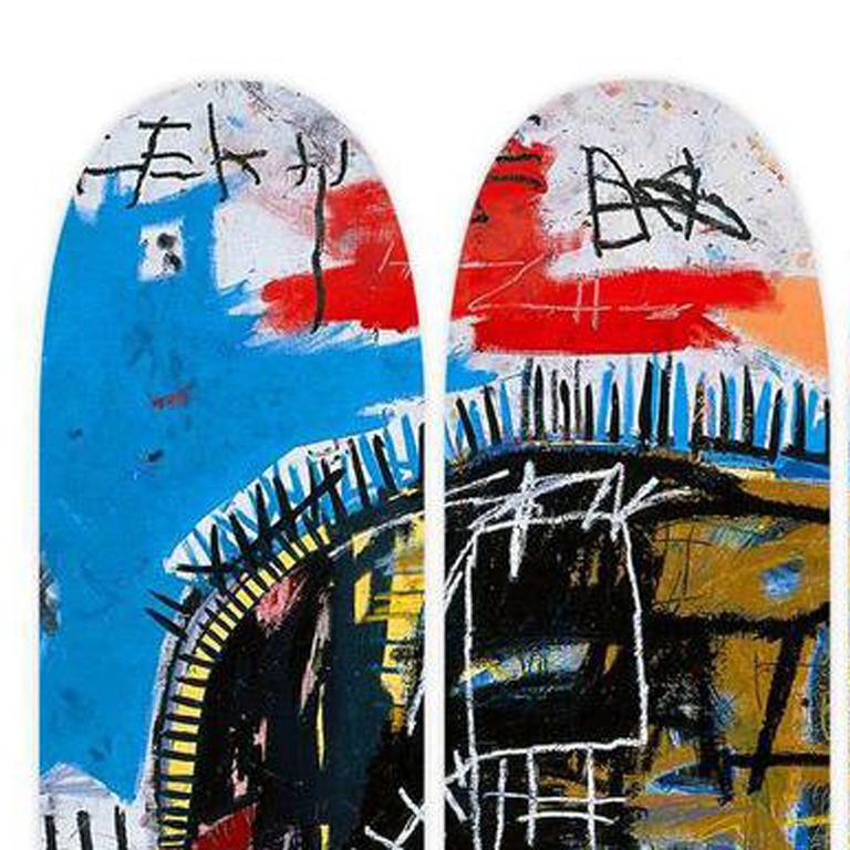 Basquiat, Skull Skate Decks, Set of Three (Triptych) For Sale 1