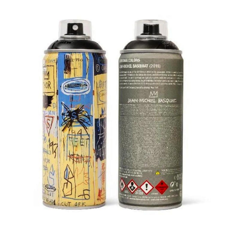 Limited edition Basquiat spray paint can set 2