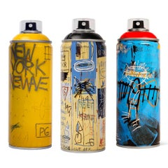 Limited edition Basquiat spray paint can set
