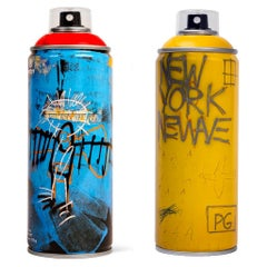 Limited edition Basquiat spray paint can (set of 2)