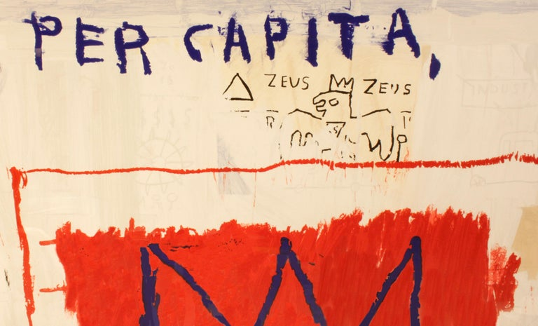American 'After' Jean-Michel Basquiat, Per Capita, from Portfolio 1, 1983-2001 For Sale