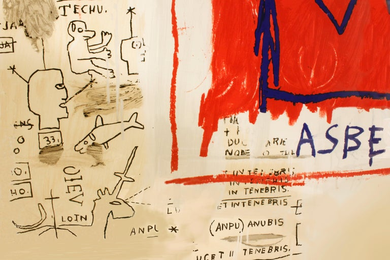 Hand-Crafted 'After' Jean-Michel Basquiat, Per Capita, from Portfolio 1, 1983-2001 For Sale
