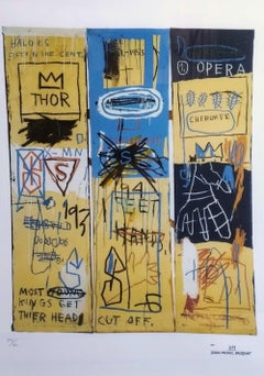 After Jean-Michel Basquiat - Lithography - Charles The First, 1982
