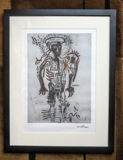 After Jean-Michel Basquiat - Lithography - Portrait of a Naked Man - 1987