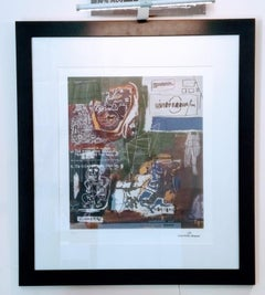 After Jean-Michel Basquiat - Lithography - Sienna, 1984