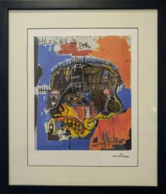 After Jean-Michel Basquiat - Lithography - Skull Portrait, 1981