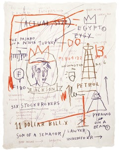 After Jean-Michel Basquiat - Lithography - Untitled (Jackson),  1982