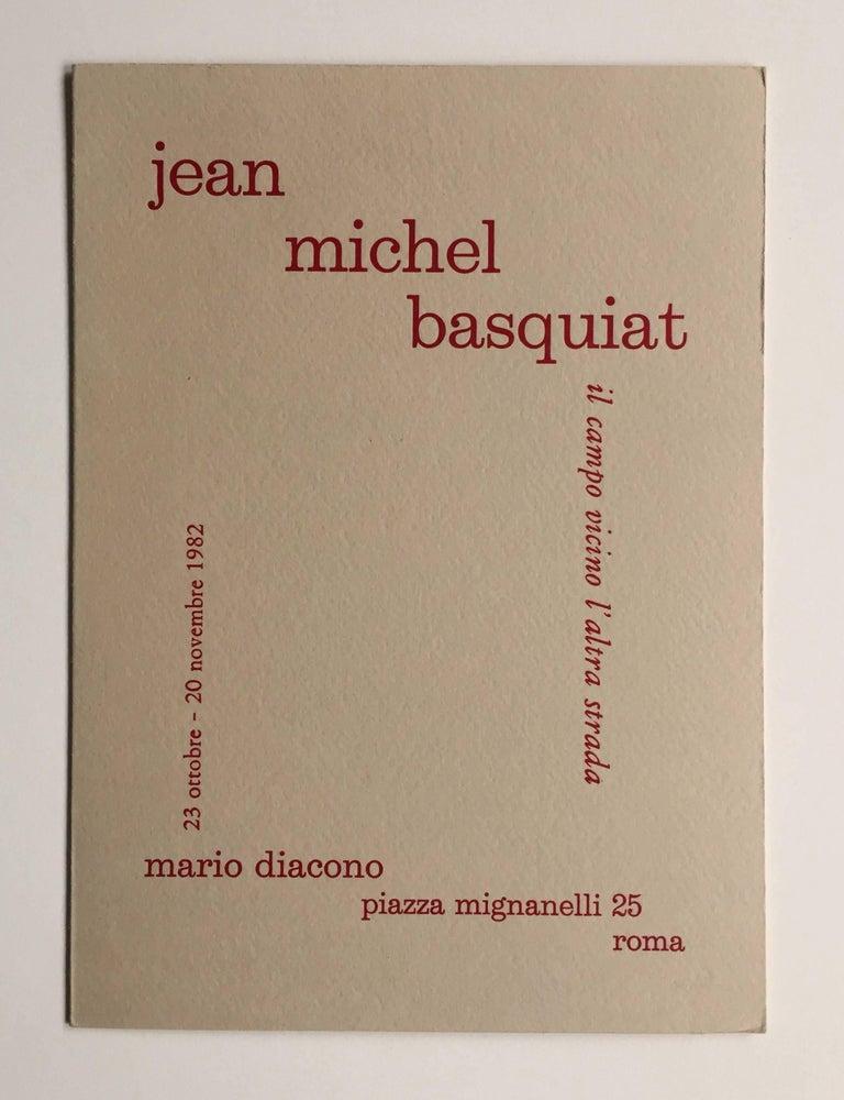 Basquiat 1982 Rome announcement (vintage Basquiat)  - Pop Art Print by after Jean-Michel Basquiat