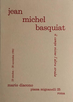 Basquiat 1982 Rome announcement (vintage Basquiat)