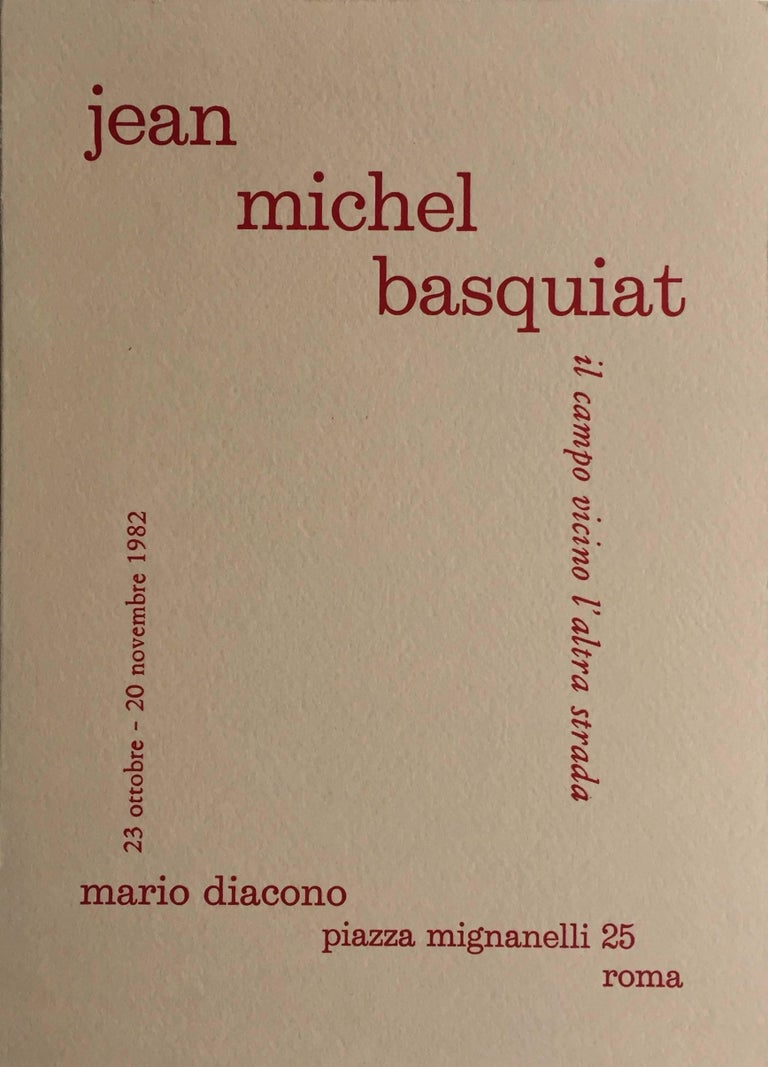 Basquiat 1982 Rome announcement (vintage Basquiat)  - Print by after Jean-Michel Basquiat