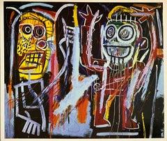 Basquiat at Tony Shafrazi gallery 1996 (Basquiat Dust Heads announcement)