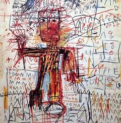 Basquiat Fondation Dina Vierny exhibition poster (Basquiat works on paper)