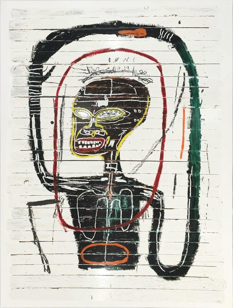 (after) Jean-Michel Basquiat Figurative Print - Flexible