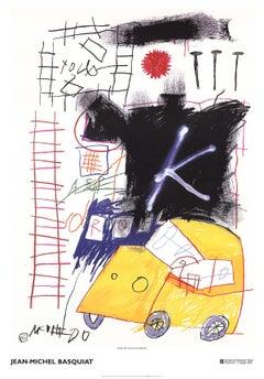 "Jean-Michel Basquiat - City Taxi - 2002 Offset Lithograph 39.5"" x 27.5"""