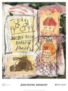 "Jean-Michel Basquiat - Helmets - 2002 Offset Lithograph 31.5"" x 23.5"""