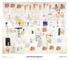 "Jean-Michel Basquiat - Icarus Esso - 2002 Offset Lithograph 23.5"" x 27.5"""