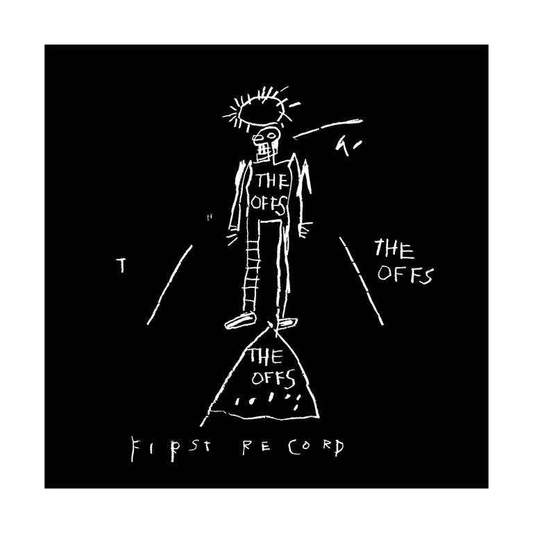 after Jean-Michel Basquiat Figurative Print - The OFFS First Record Cover, Art by Jean-Michel Basquiat