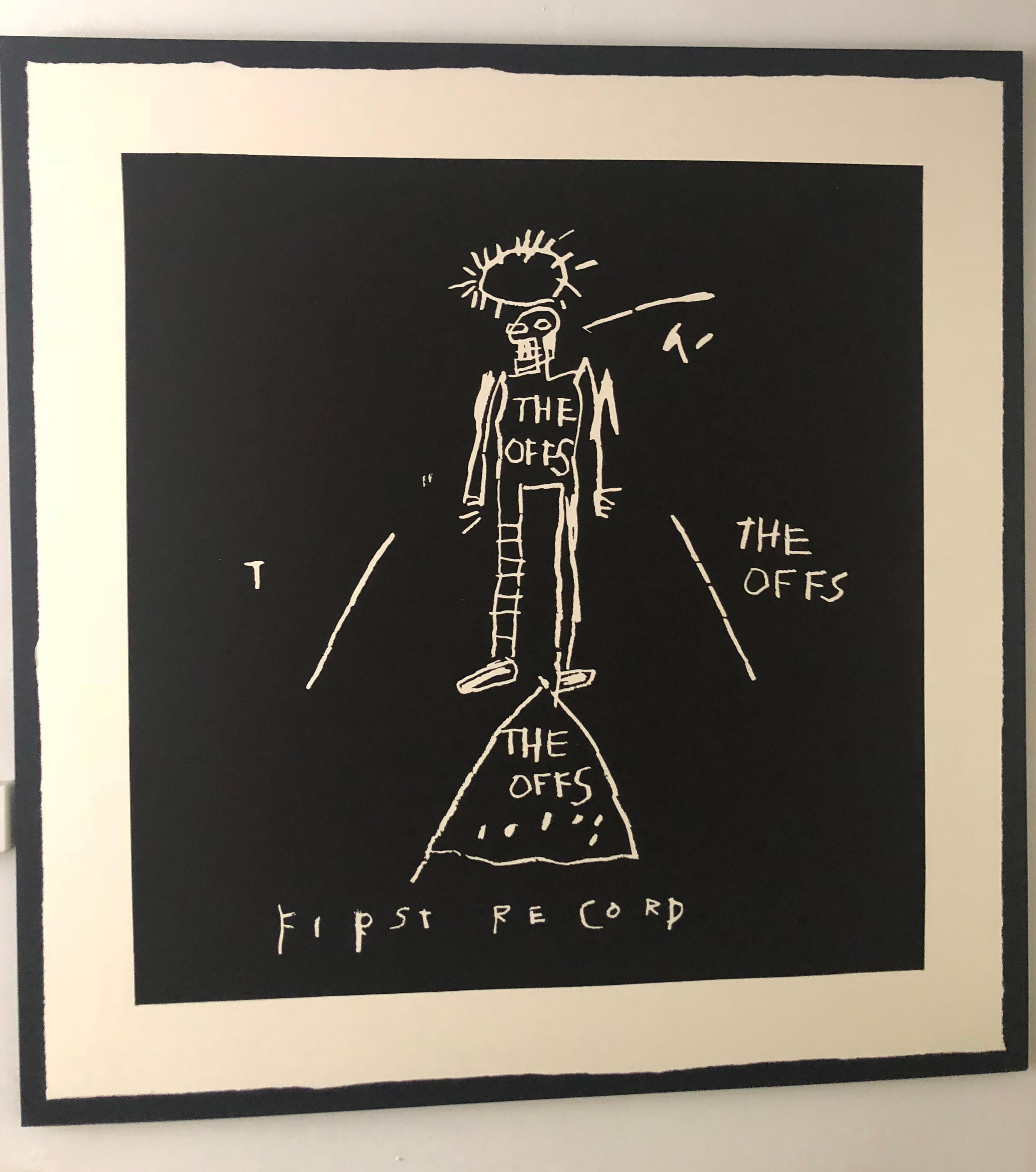 """The OFFS First Record Cover Screen Print, Art by Jean-Michel Basquiat 48"""" x 48"""""""