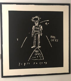 "The OFFS First Record Cover Screen Print, Art by Jean-Michel Basquiat 48"" x 48"""