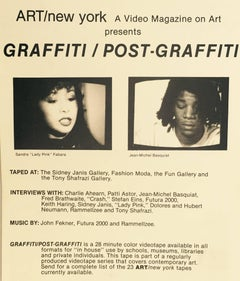 Vintage Basquiat Keith Haring graffiti announcement 1984