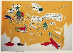 Vintage Basquiat Tokyo announcement (Basquiat Infantry)