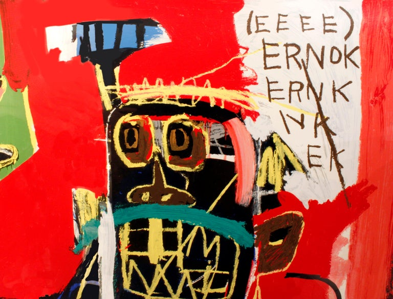 (After) Jean-Michel Basquiat, Rare Collectors Set of 4 Screen Prints, Portfolio For Sale 4
