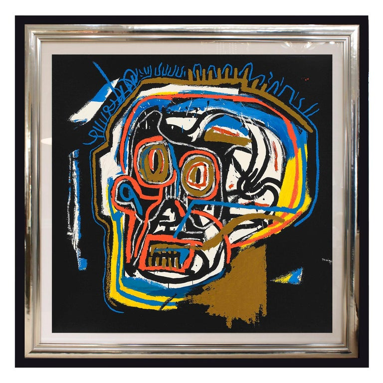 "A collectors set of 4 screen prints, ""Head"", ""Rinso"", ""Per Capita"" and ""Ernok"" in colors, on wove paper, each full sheet, each one with matching number A.P. 4/15 in pencil on lower right and signed and dated on reverse ""11-19-01"" by Gerard Basquiat"