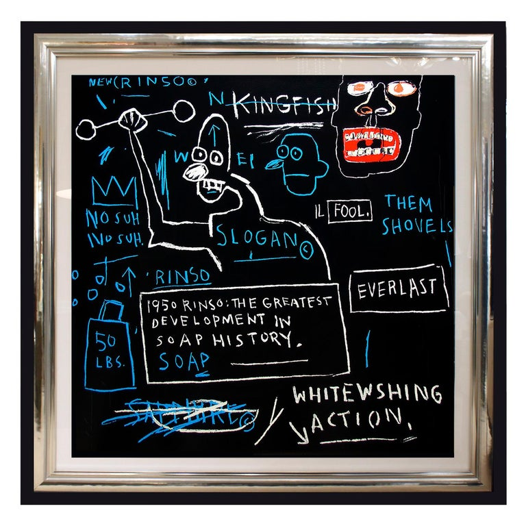 Hand-Crafted (After) Jean-Michel Basquiat, Rare Collectors Set of 4 Screen Prints, Portfolio For Sale