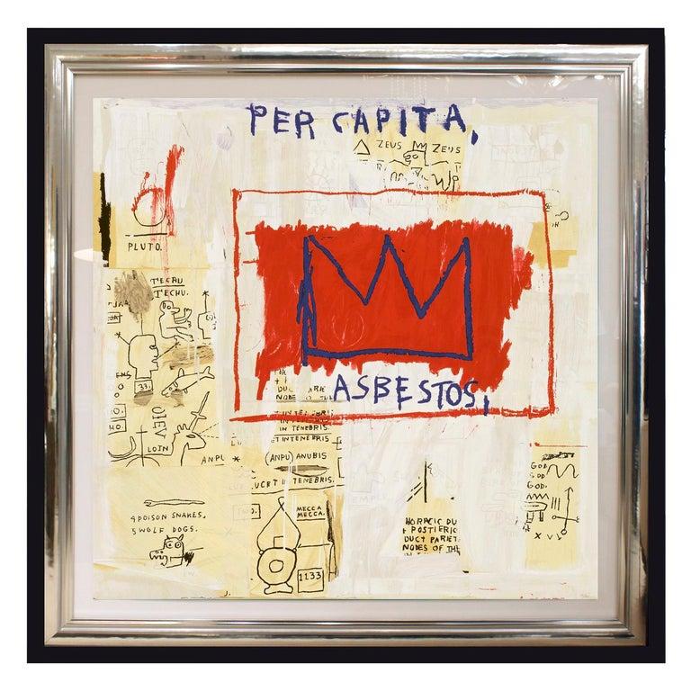 Silver Leaf (After) Jean-Michel Basquiat, Rare Collectors Set of 4 Screen Prints, Portfolio For Sale
