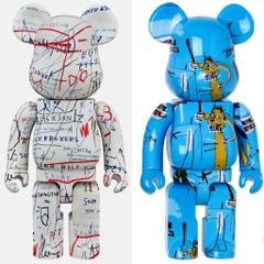 Basquiat Bearbrick 400% Companions Set of 2 (Basquiat BE@RBRICK)