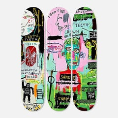 Basquiat In Italian Skateboard Decks (set of 3)
