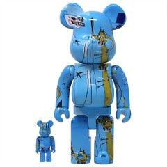 BEARBRICK: JEAN-MICHEL BASQUIAT 400% & 100% Medicom Toy Japan, Vinyl figure