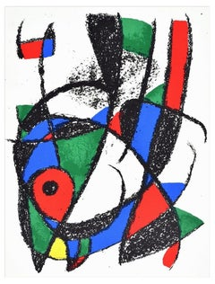 Composition I - Original Lithograph by Joan Mirò - 1974